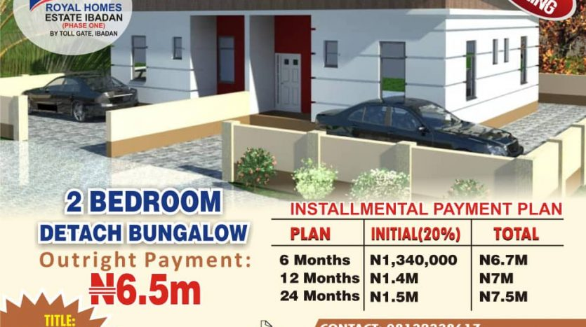 Royal Homes Houses for sale at Ibadan Toll-gate at NGN6.5M